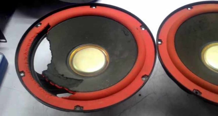 How to repair the speakers themselves red